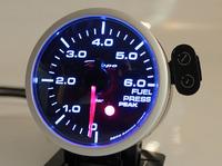 Датчик DEPO 60мм fuel press (давление топлива) с варнингами и пиками