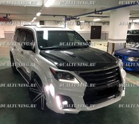 Капот «KHANN» на Lexus LX 570 рестаил (2012-2016) карбон