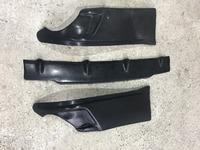 Накладки на задний бампер (клыки на бампер) Toyota Mark X GRX130 (2 детали)