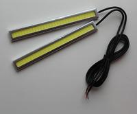 Ходовые огни DRL светодиодные тонкие (серые)