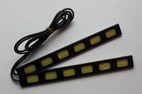 Ходовые огни DRL светодиодные тонкие (черные) #2