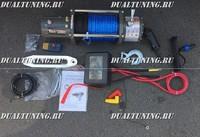 Лебедка электрическая 12V Electric Winch 12000lbs (5443кг) кевлар 28м
