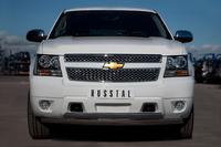 Защита переднего бампера - дуга овалы Chevrolet Tahoe 2012 (75*42/75*42)