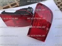 Стопы (катафоты) дополнительные Toyota Land Cruiser Prado 120 / Surf 215 в задний бампер (красные)