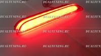 Неоновые катафоты фонари в бампер Nissan Qashqai 2014+