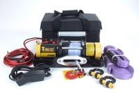 Электрическая лебёдка для снегоходов и легковых автомобилей T-MAX ATW-PRO 2500 с синтетическим тросом