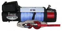Электрическая лебёдка T-MAX HEW 9500 X Power Series (12V) с синтетическим тросом