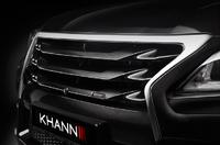 Решетка радиатор «KHANN» на Lexus LX 570 рестаил (2012-2016) карбон