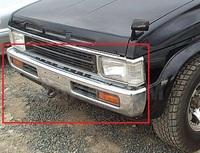 Передний бампер (хром) Nissan Terrano 21 92-95