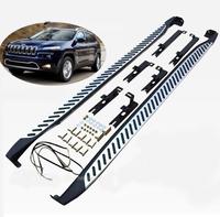 Пороги - подножки Jeep Cherokee 2014+
