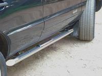 Пороги труба с накладками Chevrolet Niva (d76)