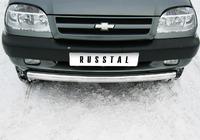 Защита переднего бампера дуга Chevrolet Niva (d76)