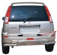 Защита заднего бампера - (дуга) Nissan X-Trail (2001-2006)