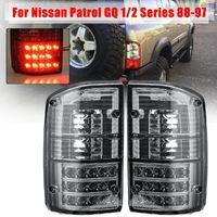 Стопы диодные тюнинг Nissan Patrol / Safari Y60 дымчатые