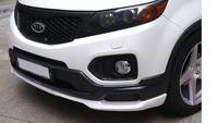 """Накладка на передний бампер (губа) """"IXION Design""""для Kia Sorento R 2009+"""