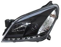 Фары (оптика) диодные Opel Astra H 2004-2010 линза (черные)