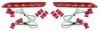 Фонари в задний бампер (катафоты) Ist/Raum/Wish/Blade/Premio/Allion/Ipsum/Noah/Voxy/GX470/RX300 (красные)