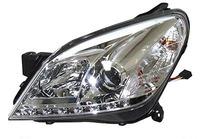 Фары (оптика) диодные Opel Astra H 2004-2010 линза (хром)