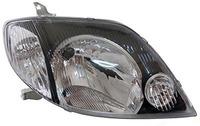 Фары (оптика) Toyota Runx / Allex 2000-2002 (черные)