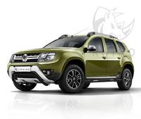 "Защита переднего бампера ""Black Rhino"" Renault Duster 2015- d63 ч. сталь черн. (волна)"