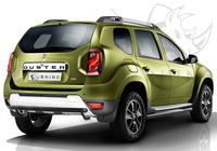 "Защита заднего бампера ""Black Rhino"" Renault Duster 2015- d63 ч. сталь черн. (дуга)"