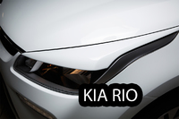 Речники - накладки на фары «GT-Line» KIA Rio Sedan IV (2017+) ver 2