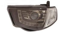 Фары (оптика) диодные Mitsubishi L200 / Triton 2005+ (линза) черные