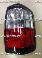 Стопы диодные Nissan Terrano R50 (красные + белые)