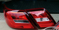Стопы тюнинг Toyota Camry V40 стиль Lexus (красно-белые)