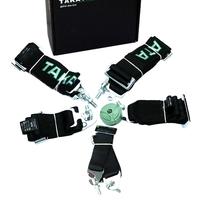 Спортивные ремни безопасности Takata 6 точек черные