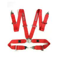 Ремни безопасности TAKATA 4-х точечные (красные)