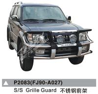 Дуга метал - защита переднего бампера Toyota Land Cruiser Prado 90/95
