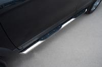 Пороги труба с накладками Chevrolet Tahoe (d76)
