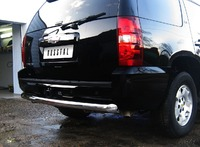 Защита заднего бампера - дуга Chevrolet Tahoe (d76)