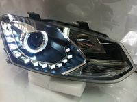 Оптика (фары) «Eagel Eye» для Volkswagen Polo (черные)