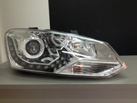 Оптика (фары) «Eagel Eye» для Volkswagen Polo (хром)