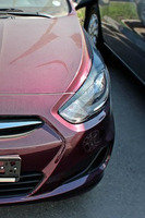 Реснички (накладки на фары) на Hyundai Solaris / Accent 2010+