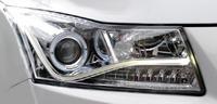 Альтернативная оптика - фары «Audi A8 Style Chrome» на Chevrolet Cruze