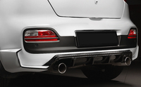 Клыки заднего бампера «Extreme» Kia Pro Ceed 3d (JD) 2012-2015