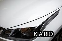 Речники - накладки на фары «GT-Line» KIA Rio Sedan IV (2017+) ver 1