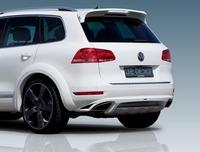 Юбка - губа на задний бампер JE Design на Volkswagen Touareg 2