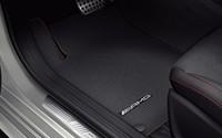 Велюровые коврики AMG для Mercedes (красная окантовка)