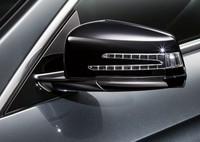 Черные корпуса зеркал для Mercedes