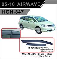 Ветровики - дефлекторы окон Honda Airwave 05- (двухсторонний скотч+крепления) TXR Тайвань
