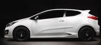 Накладки на пороги KIA Pro Ceed 3d (JD) 2012-2018 / Ceed GT